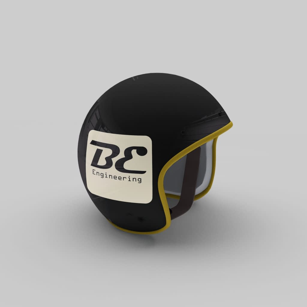 Helmet with Logotype on